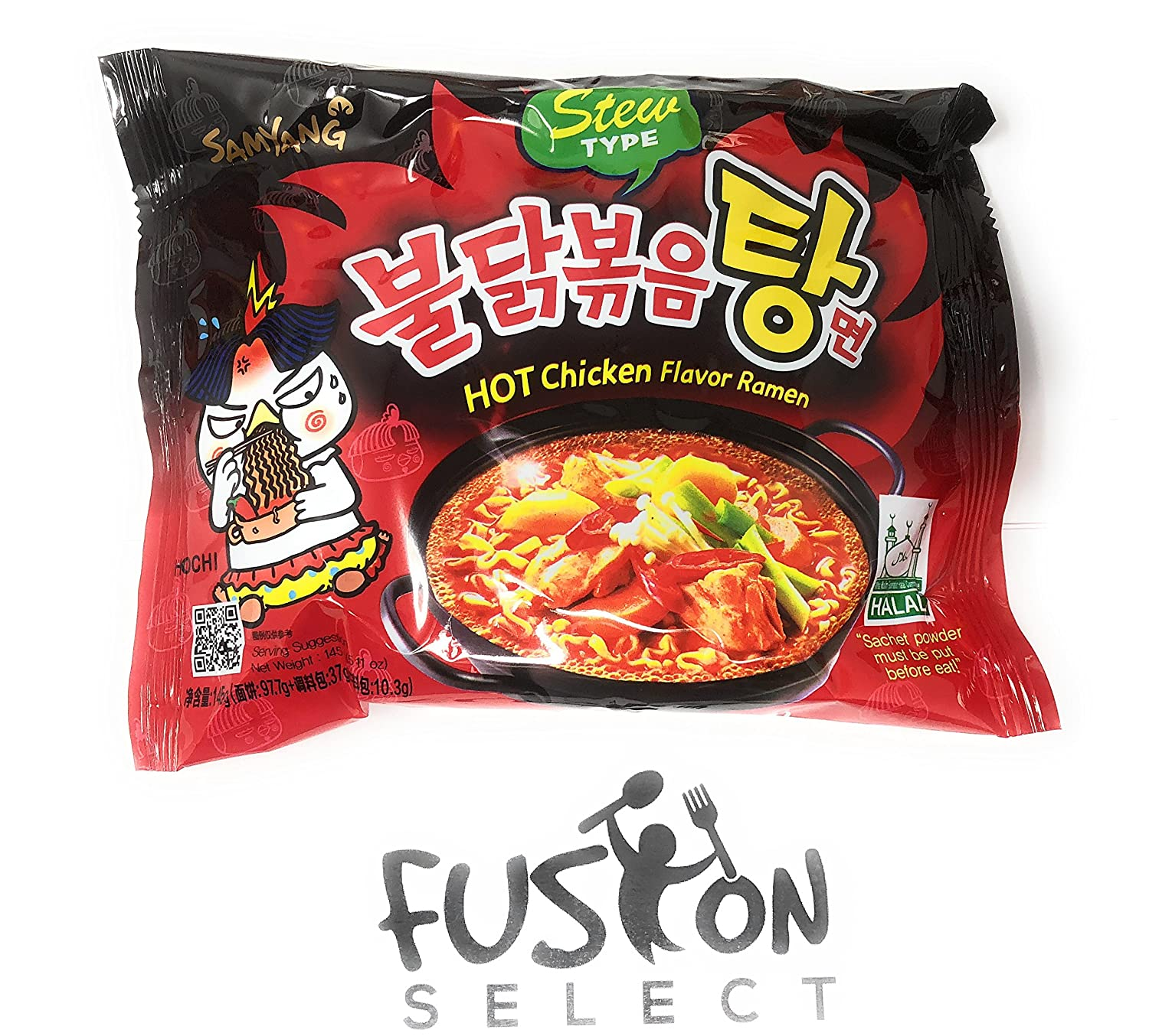 Fusion Select Samyang Top Two Spicy Chicken Hot Ramen Noodle Buldak Nuclear 2x Variety 20 Pack 10