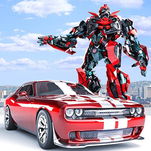 Car Robot Transformation - US Police Car Cop Robot