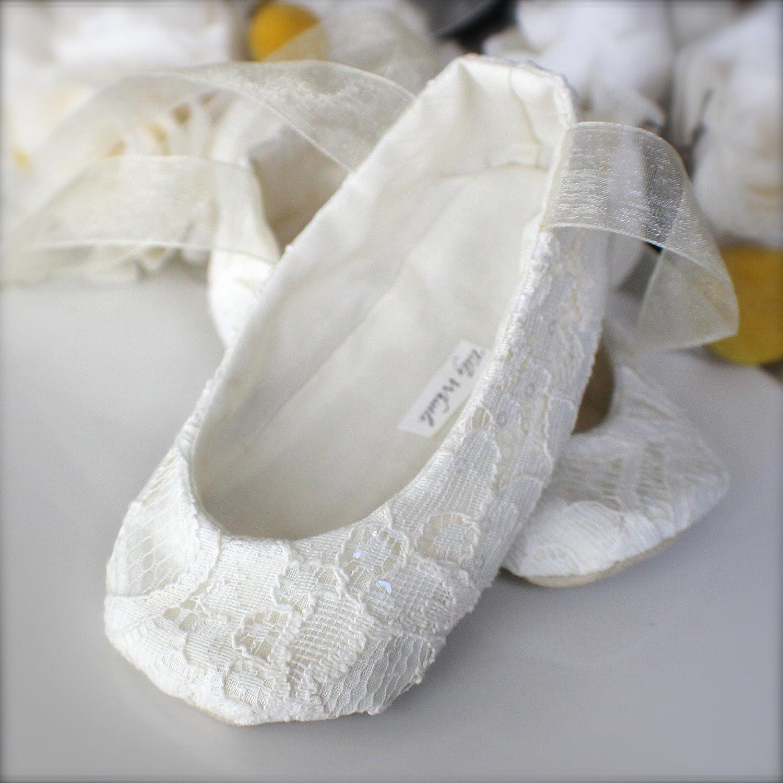 748386654ecb9 Amazon.com: Handmade Sparkle Lace Flower Girl Shoes: Handmade