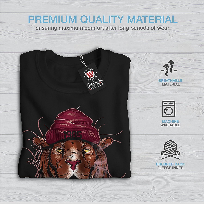 wellcoda Smoke Tiger Art Fashion Mens Sweatshirt Casual Jumper