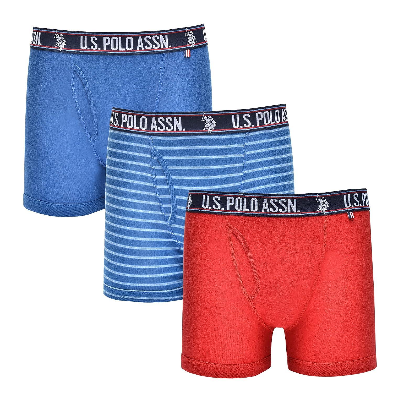 U.S. Polo Assn. UNDERWEAR メンズ X-Large|Monaco Blue/U.s. Polo Medium Blue Stripe/Barbados Cherry Monaco Blue/U.s. Polo Medium Blue Stripe/Barbados Cherry X-Large B07CPDZ7LF