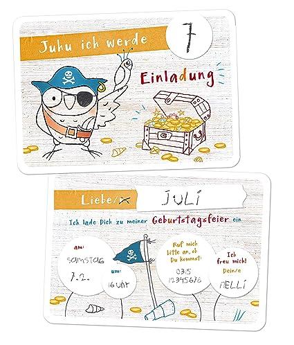 10 tarjetas de invitación para cumpleaños infantil, diseño ...