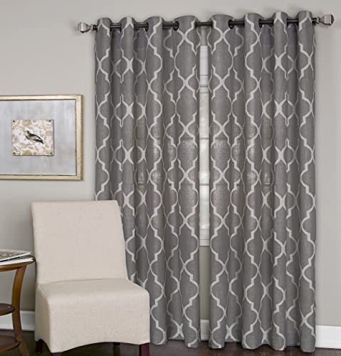 Elrene Home Fashions 26865853612 Grommet Top Linen Look Single Panel Window Curtain Drape