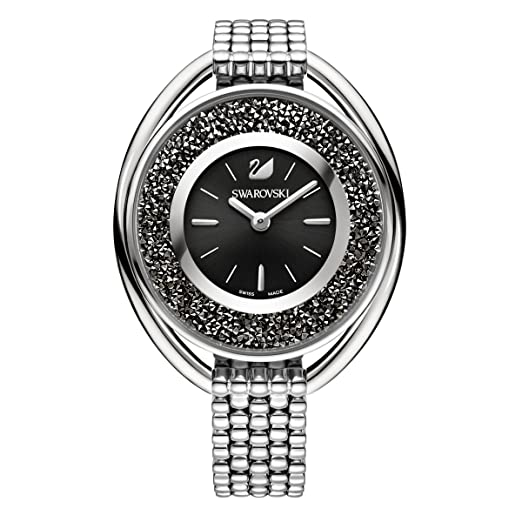 5d8246bec727 Swarovski Crystalline Oval Black Bracelet Watch  Amazon.co.uk  Watches