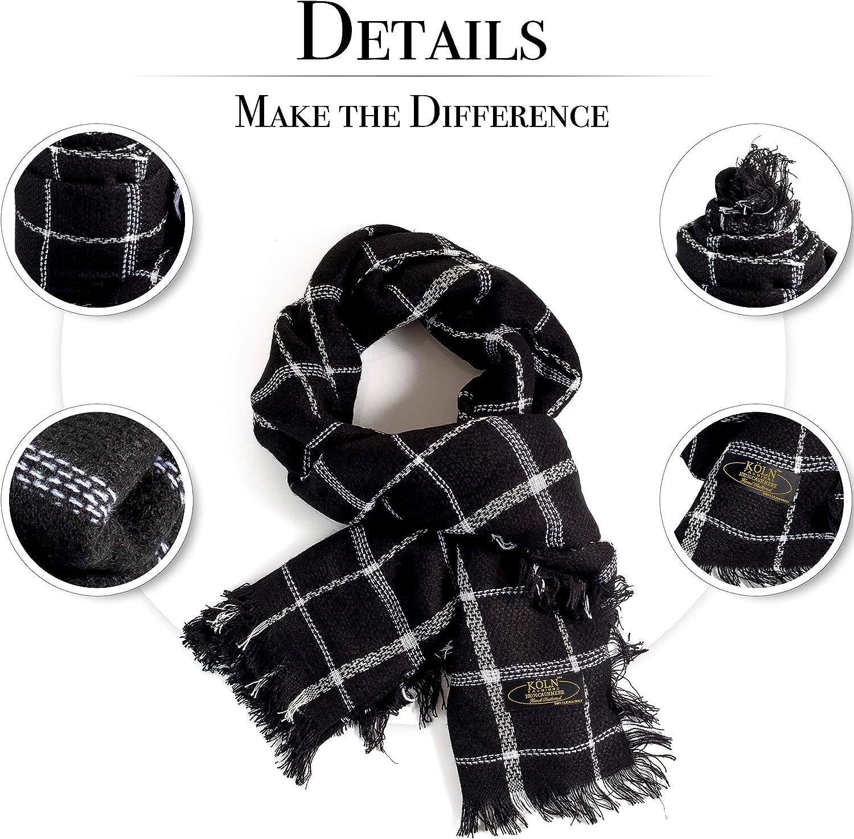 K/ÖLN Cashmere Wool Scarf for Woman and Men Premium Quality 100/% Pashmina Cashmere