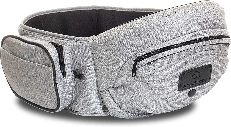 Porte-b/éb/é Smoothbaby/® ONE Ergonomique S/écuritaire et Confortable Gris Perle pour B/éb/é de 4 /à 36 mois ou jusqu/'/à 20kg Multi-position. 3D MESH pour Int/érieur et Ext/érieur