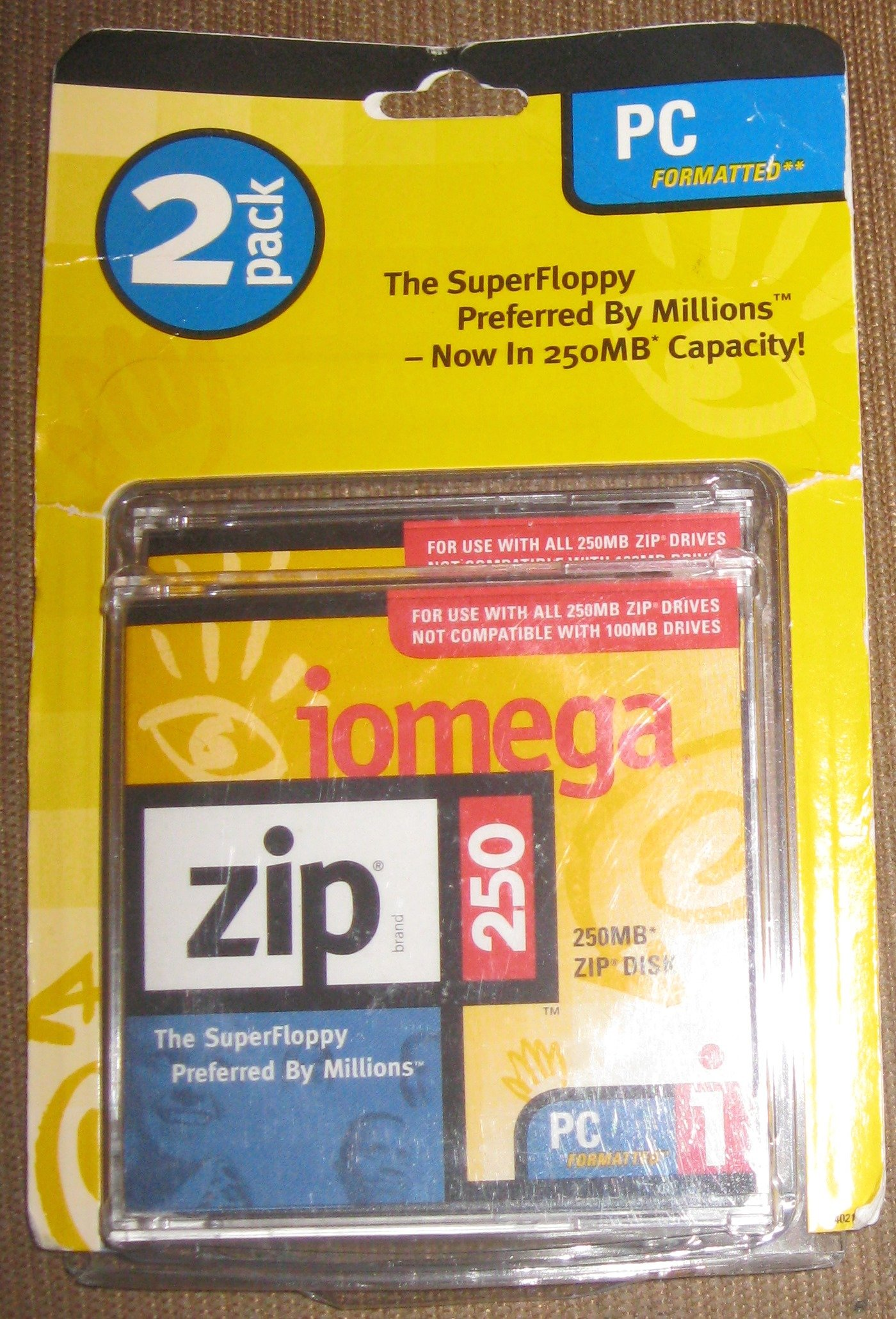 ZIP Iomega 250 mb 2-Pack Disk
