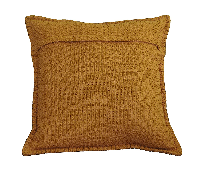 AM Home 0666 Diamond Texture Pillow with Whipstitch 20 x 20 Opal Gray AM International