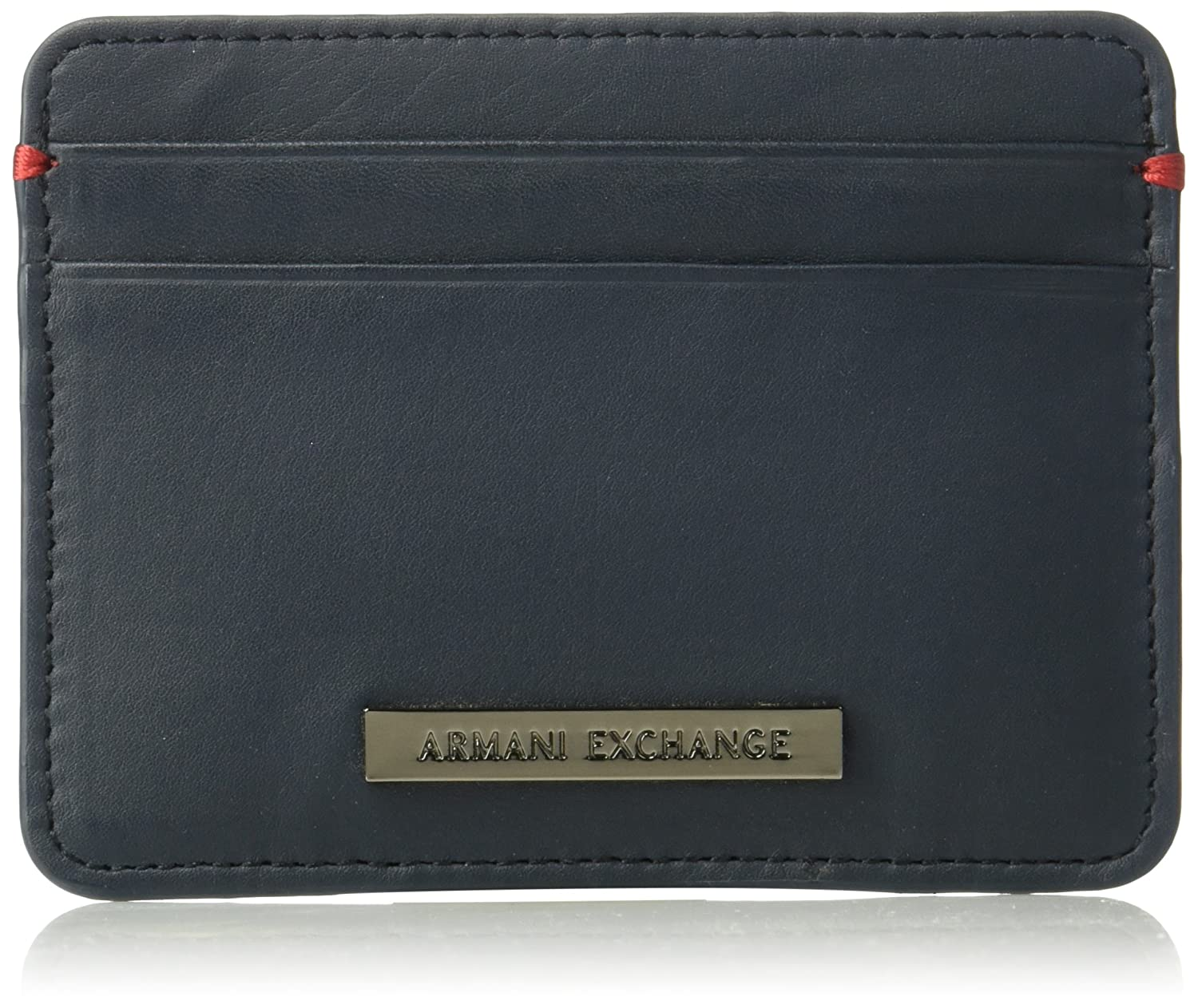 Armani Exchange Two Card Holder Accessory, Navy, One Size at Amazon ...