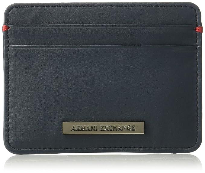 Amazon.com: Armani Exchange de los hombres piel Cardcase con ...