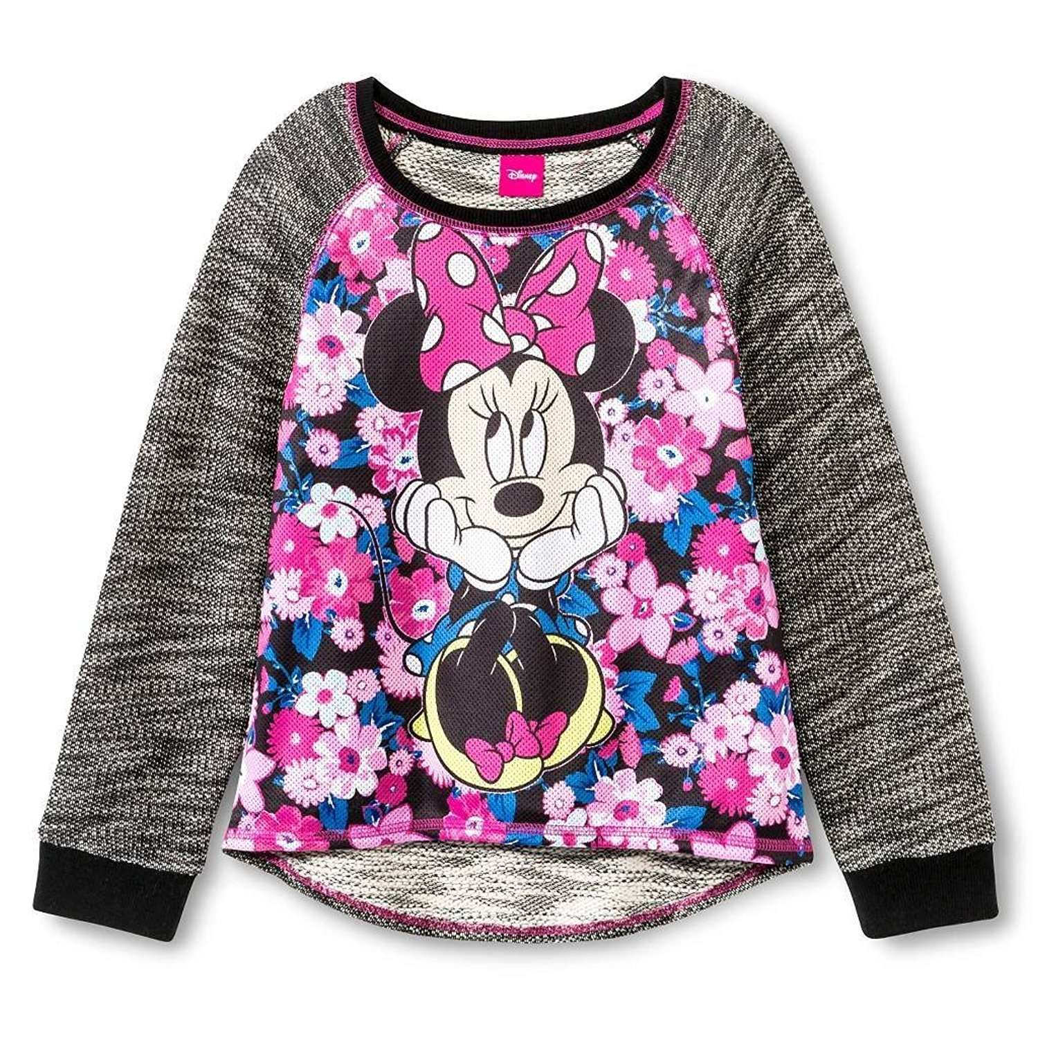 Disney Minnie Mouse Sitting Pretty Black Sweatshirt For Girls (XS (4/5))