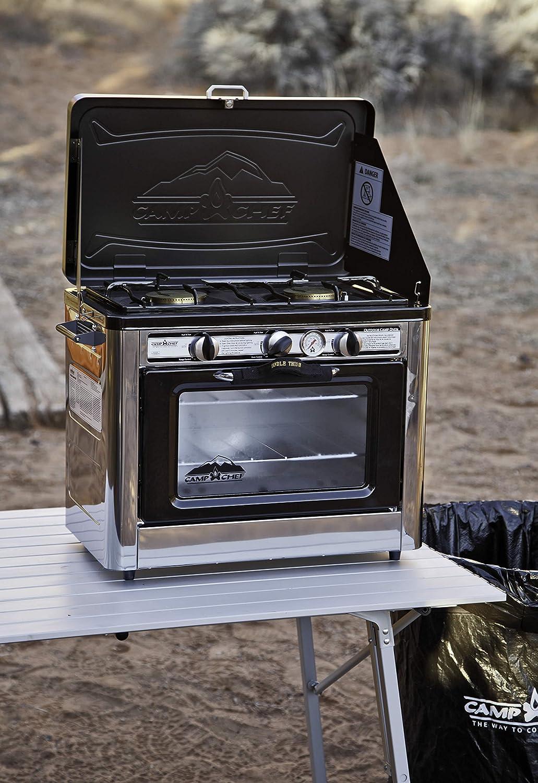 Camp Chef - Horno para uso en exterior y acampada (incluye 2 quemadores)