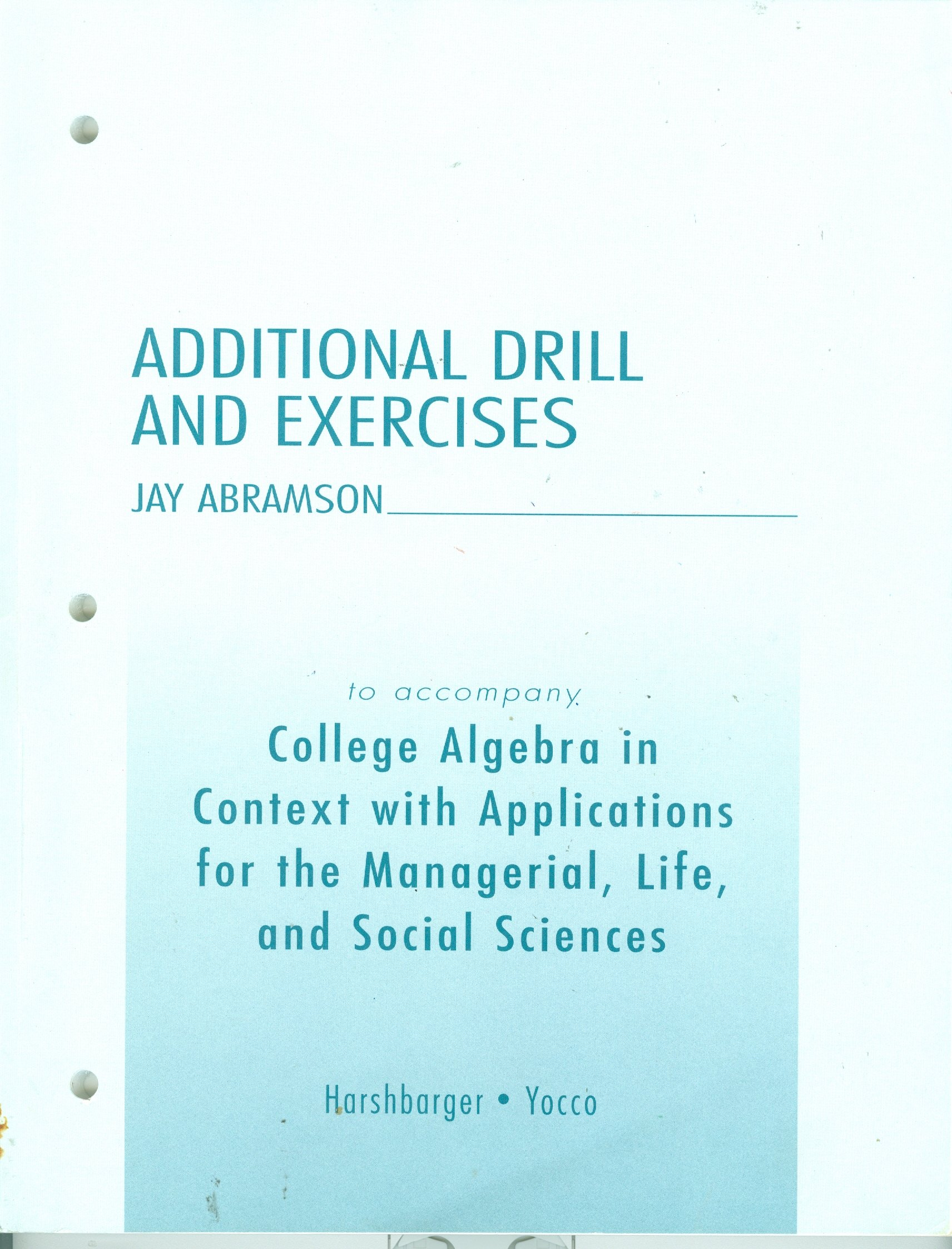 Buy Additional Drill and Exercises Book Online at Low Prices in ...