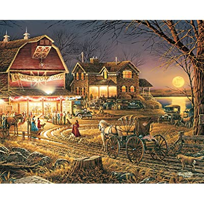 White Mountain Puzzles Harvest Moon Ball - 1000 Piece Jigsaw Puzzle: Toys & Games