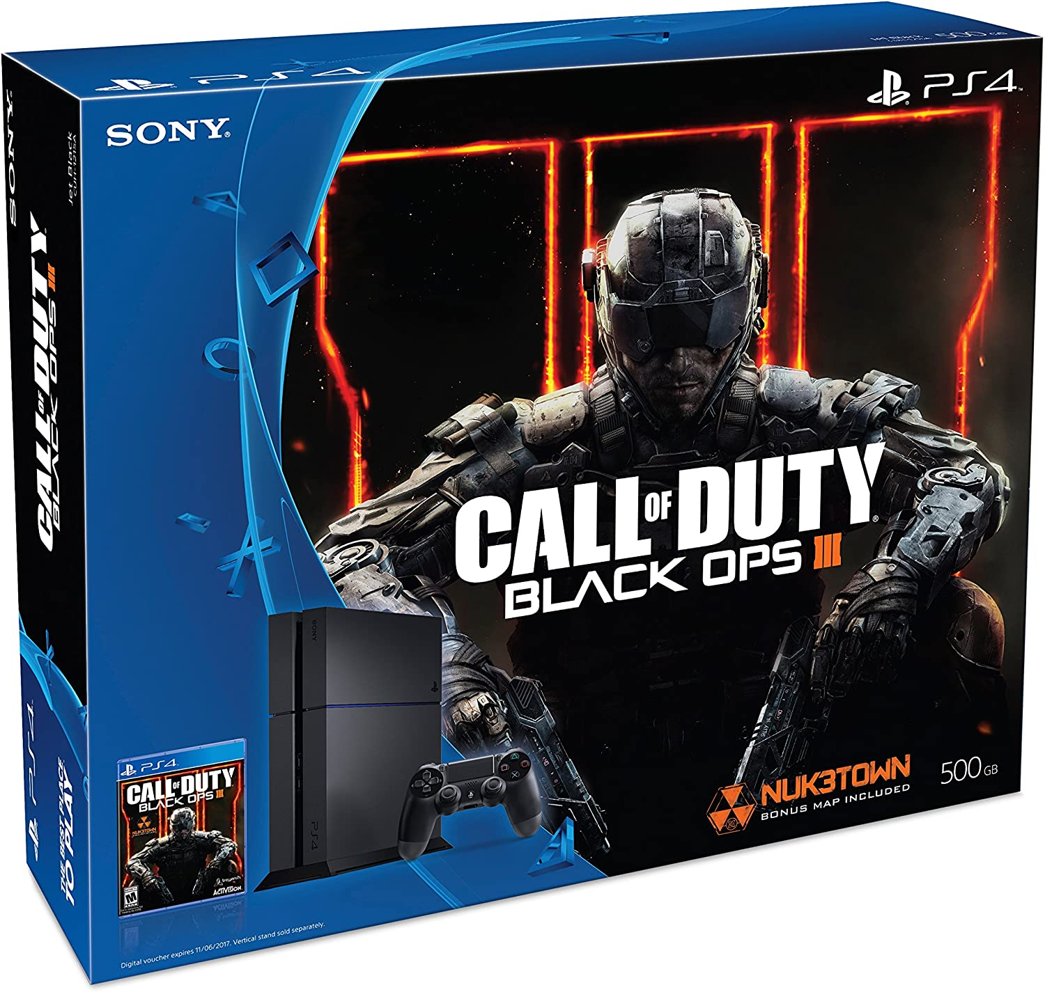3645f81594e55 Amazon.com  PlayStation 4 500GB Console - Call of Duty Black Ops III Bundle   Discontinued   Video Games