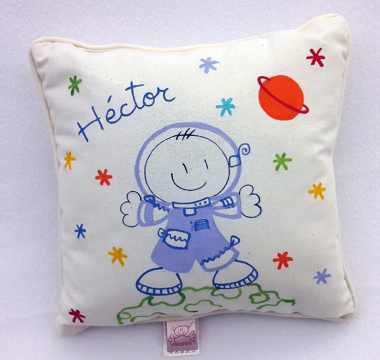Cojin personalizado de niño 25x25 cm. Astronauta: Amazon.es ...