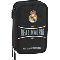 safta 412024057 Plumier Triple Estuche con 41 Piezas Real Madrid CF, Negro