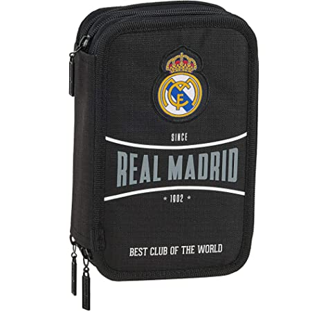 Real Madrid - Plumier Triple, 13 x 21 x 6 cm (SAFTA 411554057): Amazon.es: Juguetes y juegos