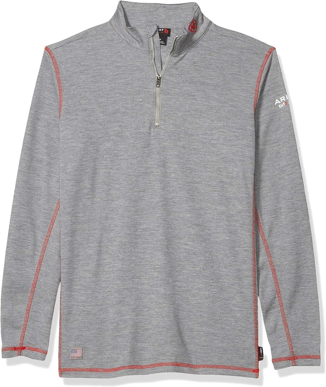 Ariat Men's Flame Resistant Polartec 1/4 Zip BaselayerShirt