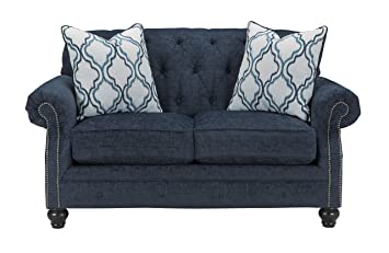 Amazon.com: benchcraft Lavernia Loveseat en color gris ...