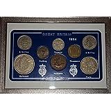 1954 GB Great Britain British Coin Birth Year Vintage Retro Gift Set (64th Birthday Present or Wedding Anniversary)