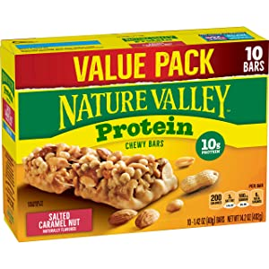 Nature Valley Chewy Granola Bars, Salted Caramel Nut, Protein, 10 ct, 14.2 oz