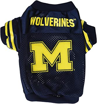 Amazon.com   Sporty K9 Collegiate Michigan Wolverines Football Dog Jersey ff1872e31
