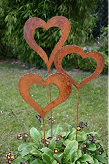 Gartendeko Metall gartenstecker vogelfamilie 3 teilig gartendeko metall rost