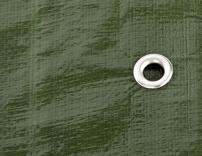 Premium Quality Cover Made of 140gramm//Square metre Tarpaulin Home /& Garde Green//Silver Tarp Sheet GardenMate 1.5m x 6m Tarpaulin Waterproof Heavy Duty