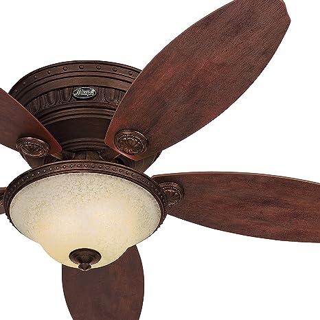 Hunter Fan 52in Low Profile Tuscan Gold Finish Ceiling Fan