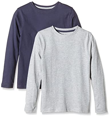 Primark - Camiseta de Manga Larga para niños, Gris, Azul Oscuro, 7-8 años: Amazon.es: Ropa y accesorios