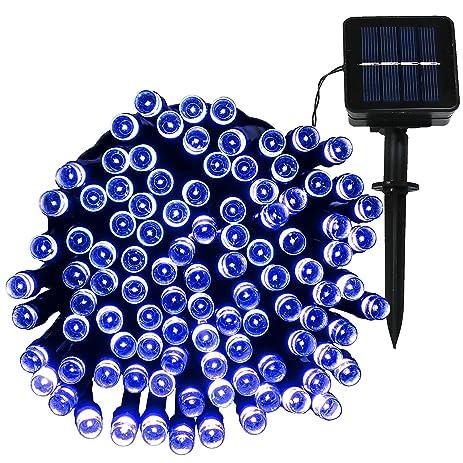 Sunnydaze 1 White LED Solar-Powered 34-Foot String Light Strand 100 Bulbs