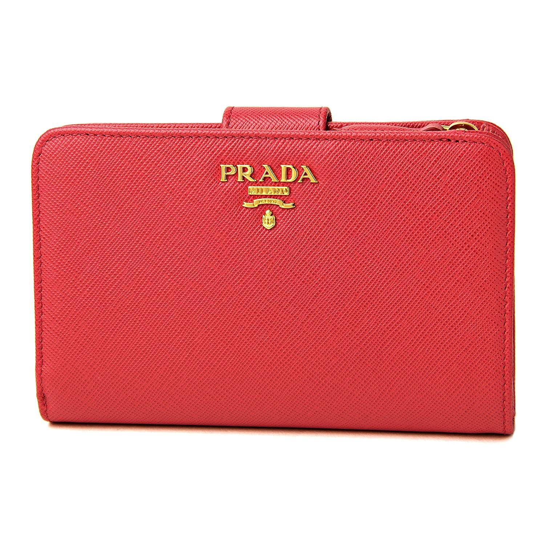 プラダ(PRADA) サフィアーノ メタル SAFFIANO METAL 1ML225 QWA F0505 2つ折り財布 ピンク [並行輸入品] B01N3YPXGJ