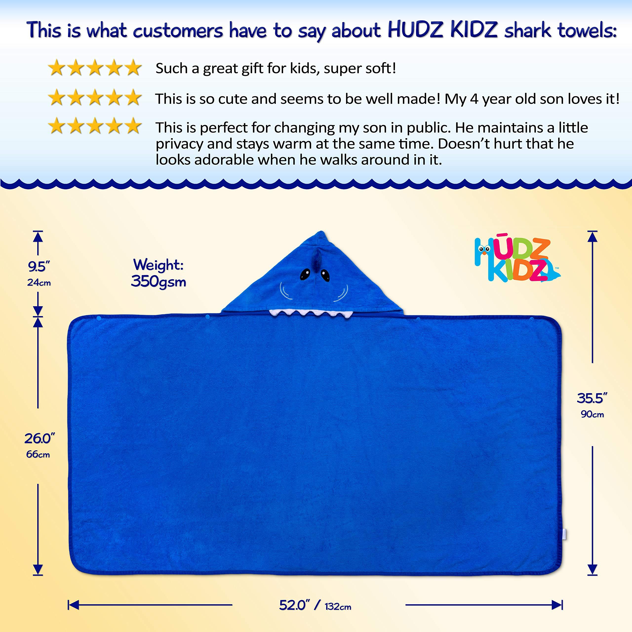 Hudz Kidz Hooded Towel for Kids & Toddlers, Ideal at Bath, Beach, Pool by Hudz Kidz (Image #4)