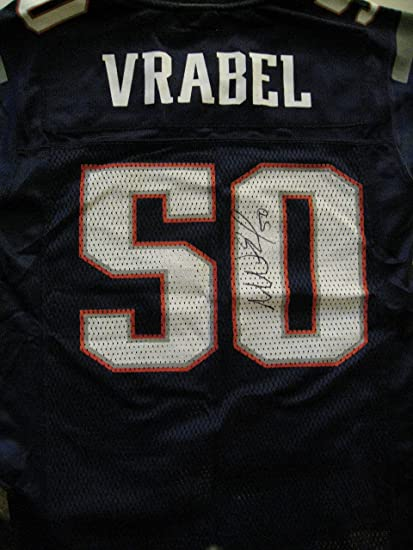 2732f038bd4 Mike Vrabel Autographed/Signed New England Patriots Jersey COA at ...