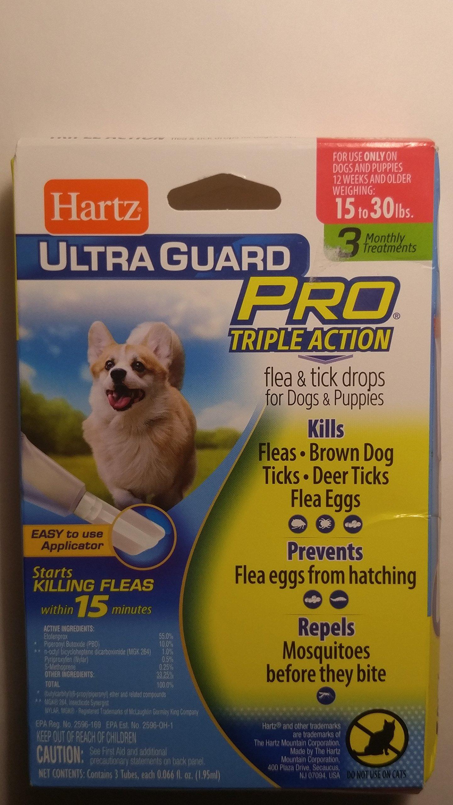 Hartz Flea & Tick Drops 3 CT (Pack of 8)