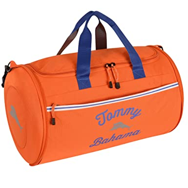 68d99d9a Amazon.com: Tommy Bahama Travel Carry Duffle Bag, Orange/Grey/Blue: Lyons  Trading Co.