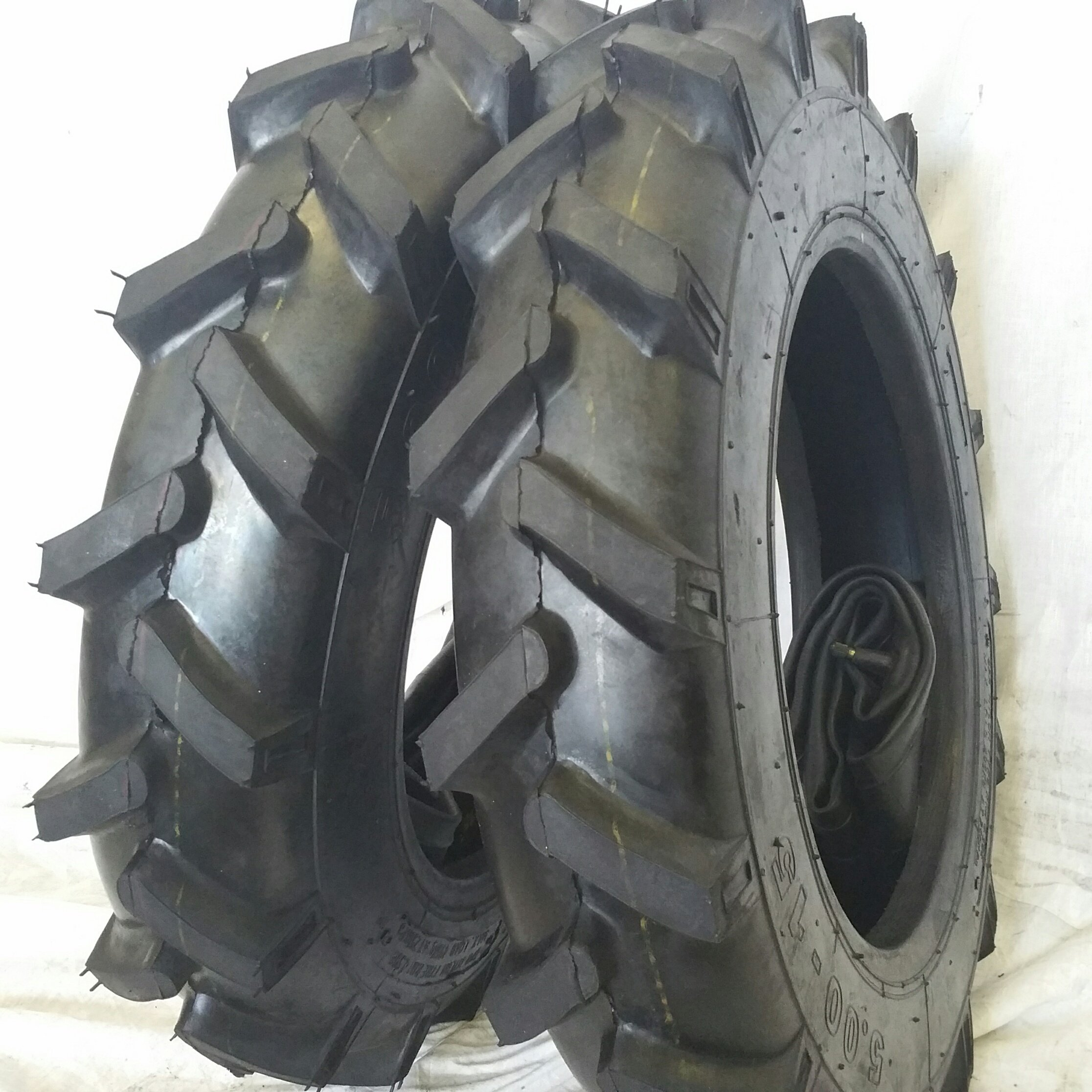 (2 TIRES + 2 TUBES) 6.00-16 8 PLY RW OZK KNK50 R1 Farm Tractor Tire 600168 by Road Warrior