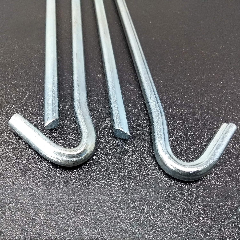 25 cm lang Zelthaken Heringe Set mit 12-48 St/ück Stahl verzinkt ToCi Zeltheringe