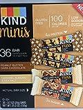 Kind mini's 36 bar variety pack. Peanut Butter Dark Chocolate, Caramel Almond & sea salt. 18 of each flavor, 0.7 oz bars