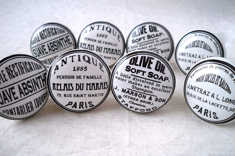 Lot De Boutons De Porte Placard Tiroir Meuble Céramique Vintage - Boutons de porte