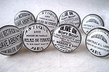 Lot de 8 boutons de Porte Placard Tiroir Meuble Céramique vintage ...