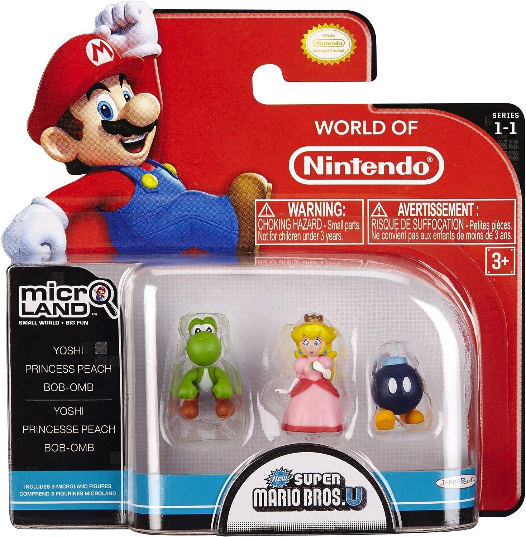 Nintendo - Figura Bob-Om, Princess Peach, Yoshi, 2 cm: Amazon.es ...