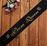 Yi PF G star 2 Pack Prom King and Prom Queen Sash