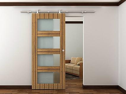 Amazon Sli Stainless Steel Barn Door Hardware Set 8 Feet