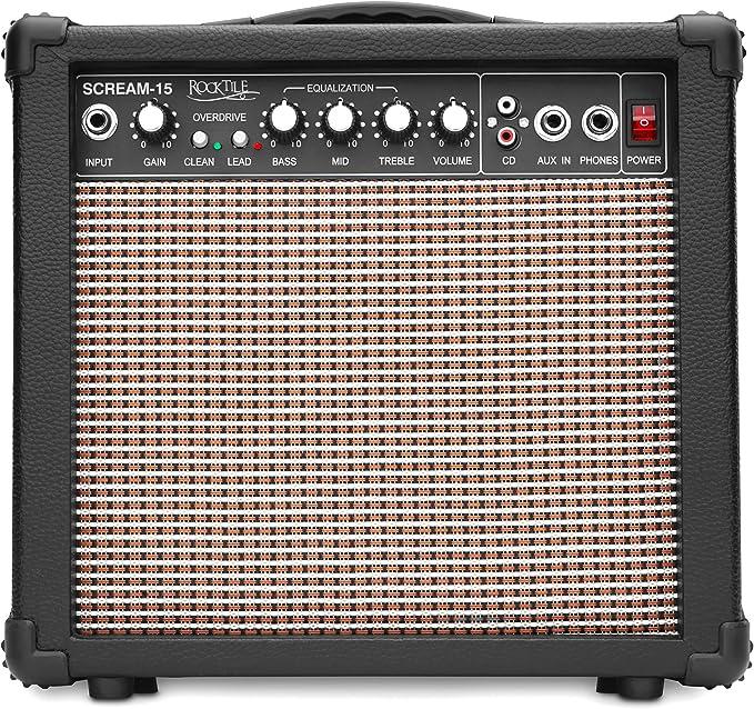 Rocktile Scream-15 - Amplificador para guitarra: Amazon.es ...