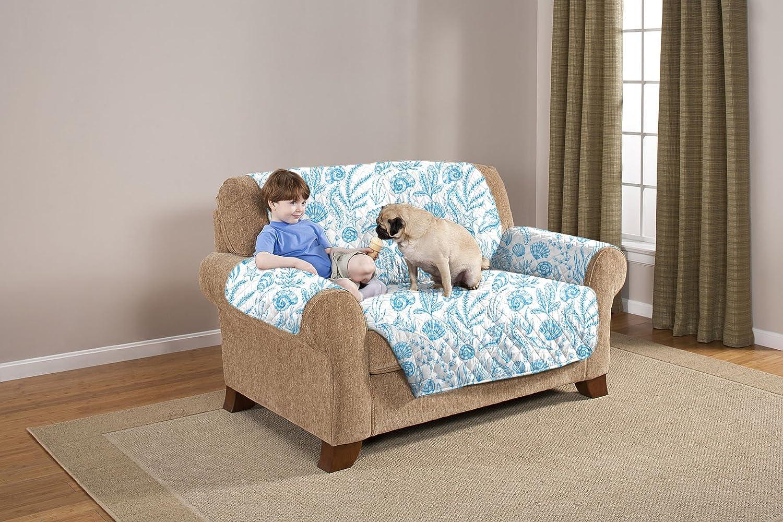 Elaine Karen Deluxe Reversible LoveSeat Furniture Protector, Shells