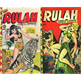 Rulah. Issues 18 and 19. Jungle Goddess. Features vampire garden. Golden Age Digital Comics Action and Adventure.