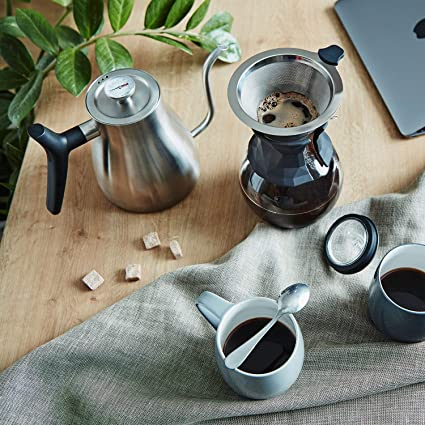 Uno Casa Jarra cafetera de 1 litro para 4 Tazas - Cafeteras de Goteo con Filtro Permanente de Acero Inoxidable: Amazon.es: Hogar