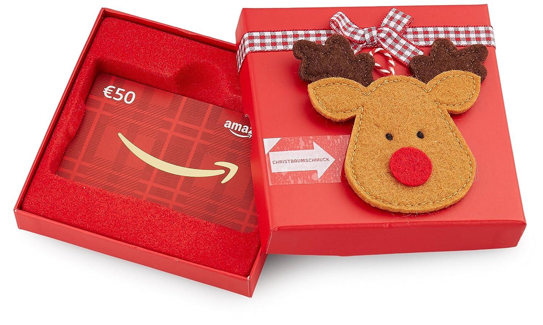 Amazon.de Geschenkkarte in Geschenkbox (Rentier) - mit kostenloser Lieferung per Post Amazon EU S.à.r.l. Fixed